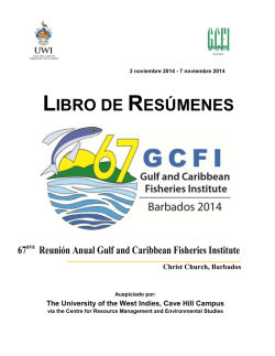 LIBRO DE RESÚMENES - Gulf and Caribbean Fisheries Institute