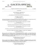 Gaceta Oficial Digital, martes 28 de octubre de 2014