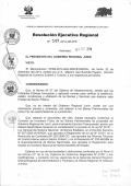 Resolución Ejecutiva Regional - Gobierno Regional Junín