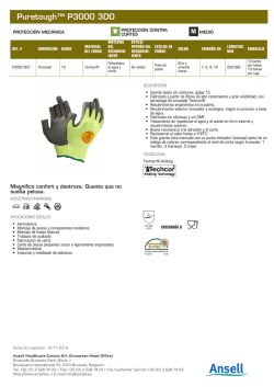 Download product sheet - Ansell Catalogue