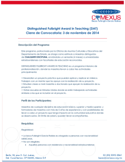 Distinguished Fulbright Award in Teaching (DAT) - Coordinación