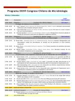 Programa XXXVI Congreso Chileno de Microbiología - Sociedad de