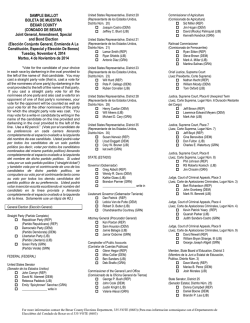 SAMPLE BALLOT - Elections Department - Bexar County