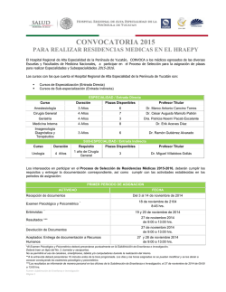 CONVOCATORIA 2015 - Comisión Coordinadora de Institutos