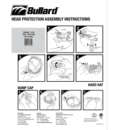 HEAD PROTECTION ASSEMBLY INSTRUCTIONS - Bullard