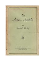 LOS ANTIGUOS APOSTOLES por David O. Mckay - Manuales SUD