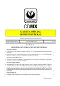 GACETA OFICIAL - Consejería Jurídica y Servicios Legales del DF