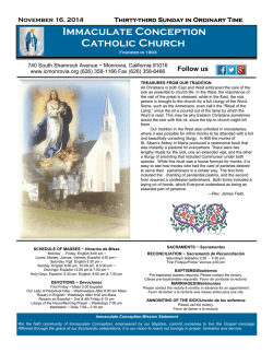 Immaculate Conception Catholic Church - E-churchbulletins.com