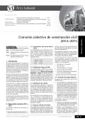 VI Convenio colectivo de construcción civil 2014-2015 - Revista