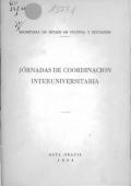 Jornadas de coordinación interuniversitaria