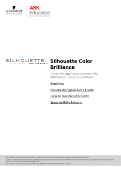Silhouette Color Brilliance - Schwarzkopf Professional