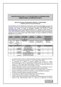 Convocatoria de la Licitación Pública Internacional número LA