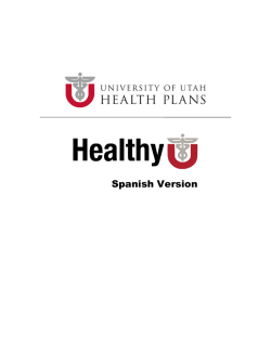 Spanish Version - University Health Plans - University of Utah
