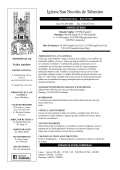 Iglesia San Nicolάs de Tolentino - E-churchbulletins.com