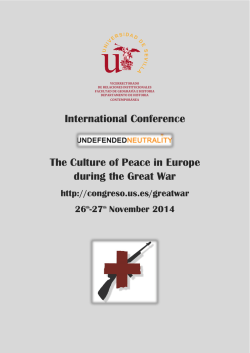 International Conference The Culture of Peace in Europe during the