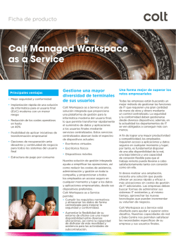 Colt Managed Workspace as a Service - Colt IT Services