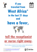 tell the receptionist or nurse right away. - Department of Public Health
