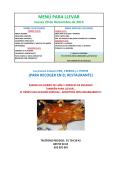 MENÚ PARA LLEVAR - Restaurante El Barracón