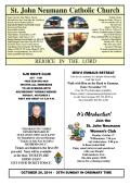 October 26, 2014 - Saint John Neumann Catholic Church