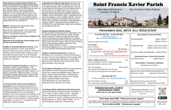 Bulletin - Saint Francis Xavier Church