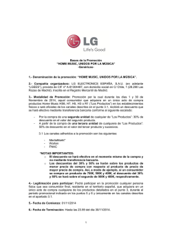 Bases legales - LG Home Music