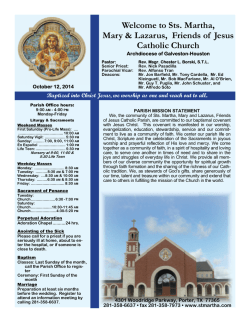 October 12, 2014 - St. Martha Catholic Church