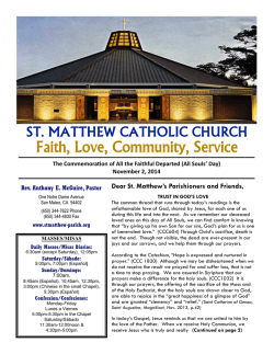 Faith, Love, Community, Service - St. Matthew Catholic Church