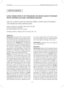 long term effect of thiazides on bone mass in women with - SciELO