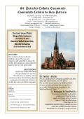 St. Patricks Catholic Community Comunidad Católica de San Patricio