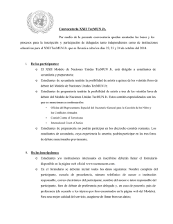 Convocatoria XXII TecMUN Jr.