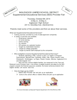 (SES) Provider Fair - Inglewood Unified School District