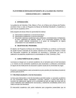 Convocatoria General Alianza del Pacifico 2015-2 - Universidad