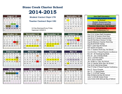 Academic Year Calendar - Stone Creek School