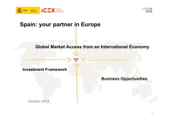 Spain: your partner in Europe - Invest in Spain
