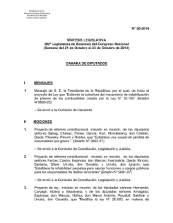 Síntesis Legislativa 26-2014 - Ministerio Secretaría General de la