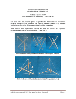Experimento No1-Analisis TENSEGRITY - Blogs - Universidad