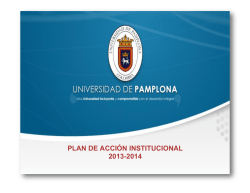 plan de accion institucional 2012-2014 - Universidad de Pamplona