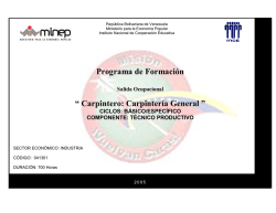 Programa Carpintero Carpintería General.pdf - Inces