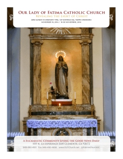 parish information and calendar - Our Lady of Fatima Catholic Church