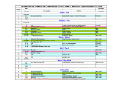 Calendario COTECC 2015 - approved at COTECC AGM 2014(1)