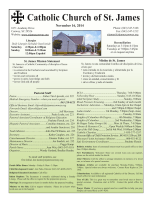 Last Weeks Bulletin - Catholic Church of St James