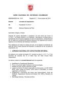 Memorando 1019 - Jornadas de Capacitación - Union Colegiada