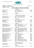 LISTA DE PRECIOS - ANIMALES DE COMPAÑIA AGROVET ALE