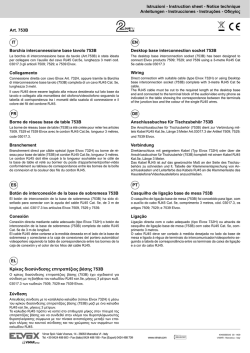 Istruzioni - Instruction sheet - Notice technique Anleitungen - Vimar