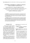 NOVEDADES TAXONÓMICAS Y - Flora Montiberica