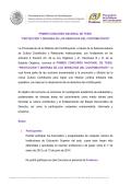 PRIMER CONCURSO NACIONAL DE TESIS - Procuraduría de la