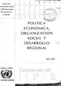 politica economica, organizacion social y desarrollo - regional