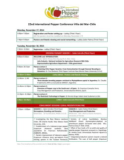 Descargue Programa (PDF) - International Pepper Conference 2014