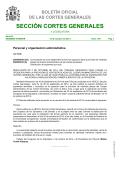 Sección Cortes Generales Serie B: Régimen Interior - Congreso de