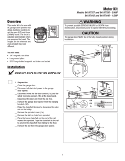 Installation Overview Motor Kit - LiftMaster